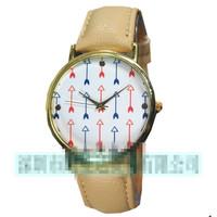 2014 fashionable men arrow strap watch women Quartz watch  1pcs free shipping