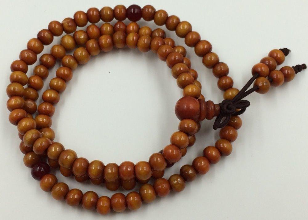 Suporte 108 contas de sândalo oração budista charme pulseira colar Mala buda Sa-116(China (Mainland))