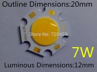 7W led chip 20mm diamete luminous dimension 12mm 21-23V 300ma  Taiwan chip High Bright  Ceiling light source  white/warm white