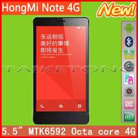 """Original XiaoMi HongMi Red Rice Note MIUI V5 4G FDD-LTE  5.5"""" MTK6592 Octa core RAM 2GB ROM 8GB WIFI GPS Single sim card"""