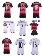 2014 World Cup 4 stars kids Germany kid's kits, Champions Patch,Soccer Jerseys germany Kids Baby Uniform Children Jersey sets(China (Mainland))