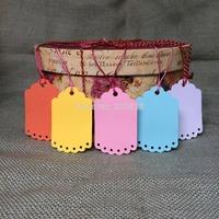100pcs 5.5*9cm wedding tags Blank colorful DIY Gift packing decoration Hang tags(no rope) scrapbook cards making baking labels