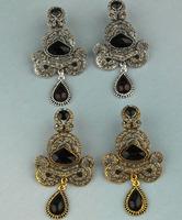 Retro big exaggerated fashion big Crystal Rhinestone earring long section female jewelry earrings