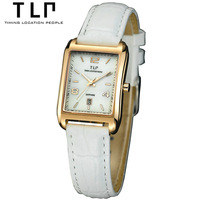 Electronic New 2014 Hot Sales Watches Aqua Dial Leather Brand TLP Watch Fashion Business Women's Quartz Watches OL watches T316