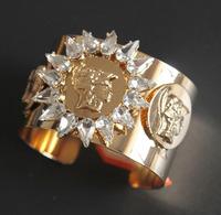European and American retro exaggerated fashion Crystal Rhinestone female Baroque beauty Avatar Bangles jewelry