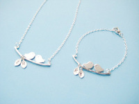 New Mom Necklace | Bird Necklace | New Mom Jewelry | Branch Pendant | Couple Bird Necklace |