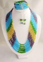 jghdfy1637HOT ON SALE!!! Elegant African wedding Beads Set For Women ,Wedding Jewelry fashion Set new arrival