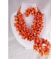 JDYUjyur1621HOT HOT HOT!!! 2014 NEW DESIGN African wedding Coral Beads Set For Women ,Wedding Jewelry fashion Set new arrival