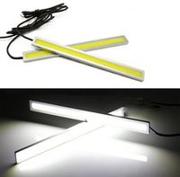 2pcs/Lot Waterproof Ultra-thin COB 17cm LED Lights DRL Car Fog light Daytime Day Running Lights Auto Lamp For Universal Car