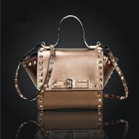 Free Shipping! 2014 Fashion Women Handbag Genuine Leather Bolsas New Shoulder Bag Hot Sale Cross Body Bag Trendy Small Bag