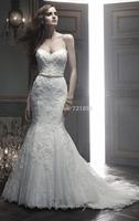 New Arrival Sexy Sweetheart Off the Shoulder Long Mermaid Lace Wedding Dresses Vestido de Noiva Renda Backless 2014 LW20