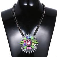 Factory Wholesale Choker Collar Necklace Women Bohemia Flower Pendant Necklace Free Shipping