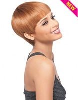 Custom Premium DUBY Wig 100% Indian Remy Human Hair New Hairstyle BOWL CUT Blonde Short Straight Hair Wig