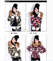 2014 Free  shipping  women  winter  hooded  jacket