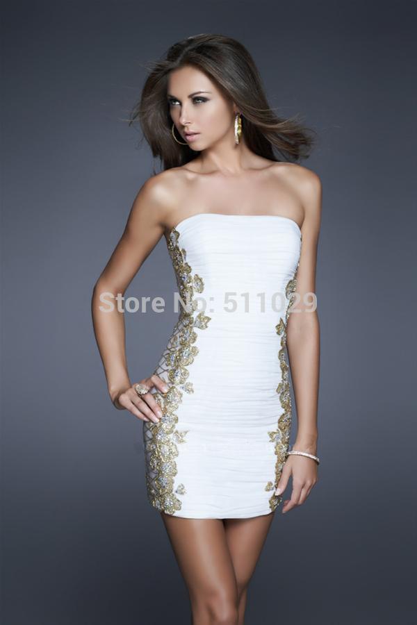 Short White Fitted Dress Cocktail Dress White Short
