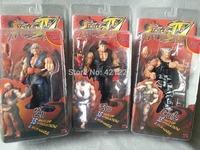 "LOT 3 PACK NEW NECA  Street Fighter 4 Ryu Ken Guile Alternate Costume Action Figure 7"""
