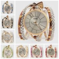 2014 Newest high quality Bracelet watch Double knit rope hydraulic surface women watches Women Dress Quartz WristWatch JW1710