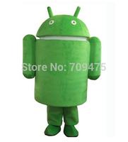 Cartoon Android Mascot Green Android Robot Costumes Mascot Performance Novelty Apparel