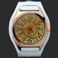1PC New Stylish Fashion White Gentle Mens Mans Teenagers Quartz Analog Hours Clock Sport Wrist Watches. Free & Drop Shipping