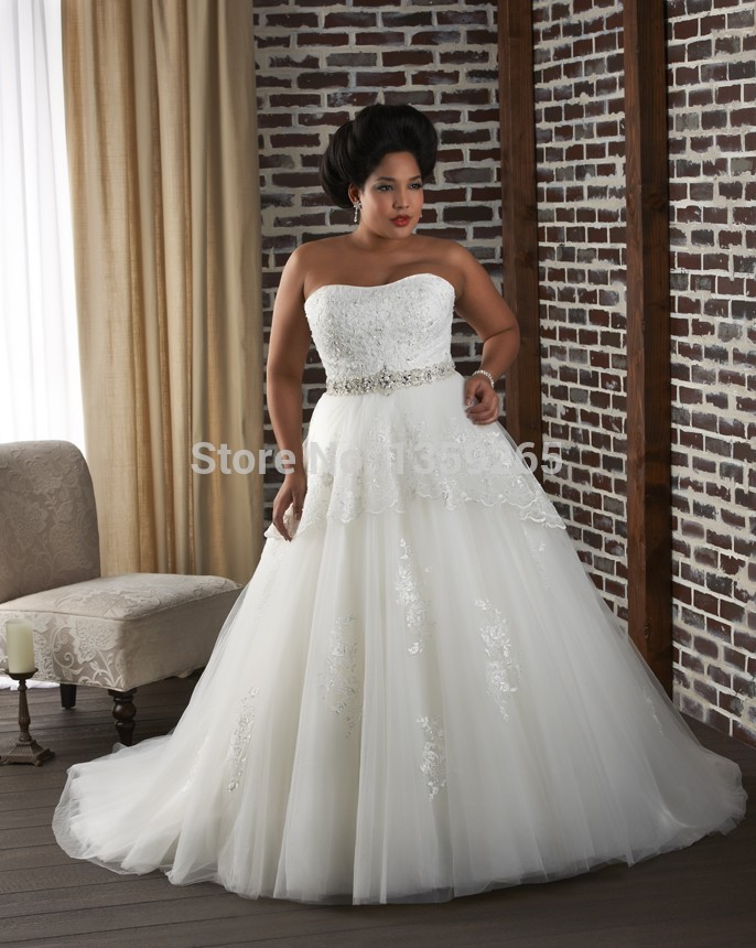 Plus size wedding dress images