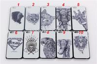 For iPhone 6 4.7inch Animals Elephant Eagle Owl Giraffe Cat Super Man Tribe Hard Plastic Case