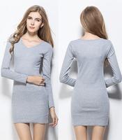 Ladies Dresses Women Knitting Cotton Dresses Korea Style Slim Casual Dress Fit Autumn winter 2014 New CHIC! W3372