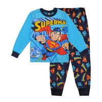 new kids clothes 2014 autumn baby boys suit long sleeve t- shirt + pants set children superman pajamas cotton wear free shipping