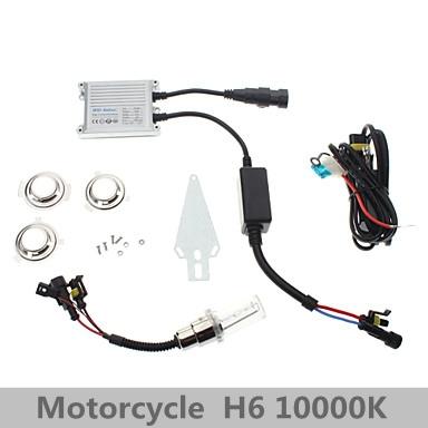 12V 35W H6 10000K Super Vision Xenon HID Motorcycle White Light Headlamp Kit(China (Mainland))
