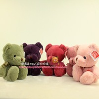 """Free shipping 7.1"""" Five Colors 2014 New Presents Cute GUND Teddy Bear Plush Toys 18cm Stuffed Animal Soft Doll Babys Kids Gifts"""