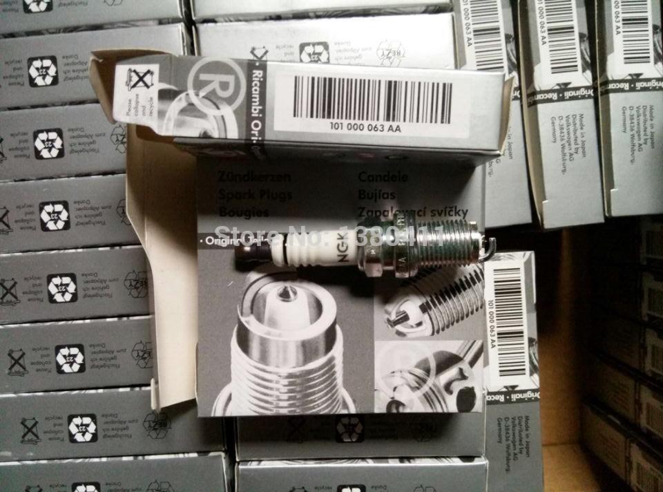 NEW GENUINE A-U-D-I A4 VW Beetle Spark Plugs NGK Laser Platinum Resistor PFR6Q 101000063AA 101 000 063 AA(China (Mainland))
