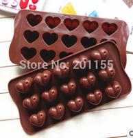 15 Heart Shape Silicone Cookie Chocolate Jelly Fondant Cake Mold