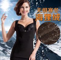 2 PCS 2014 Women's Winter warm vest Materials Cotton lun+Spandex+Micro-velboa warm body sculpting vest Size L-XL-XXL L840