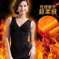 1 PCS 2014 new Women Shapewear super soft warm vest Plus Micro-velboa Sexy Vest Slimming Body Shapers Size XL-XXL-XXXL L845