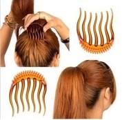 2014 Fashion Full Volume Inserts Hair Clip Hairclip Bumpits Bouffant Ponytail Hair Comb Haircomb