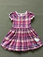 Children's Dress ! girl dress Summer Girl's plaid  dress print cartoon cat  dress  ETJ-Q0196