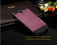 Fashionable Housse Etui Coque Brushed Metal Case Aluminum Hard Hybrid Cover Mobile Phone Case for Samsung Galaxy S4