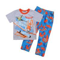 new fashion airplane baby boys short sleeve T shirt+long pants kids summer Clothes children's clothing 100% cotton 2pcs sets
