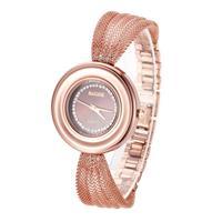 2014 New Fashion Women's Casual Watches Golden Mesh Full Steel Chain Strap Dress Watches Women Clocks