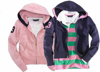 2014 new female zip up hoodie coat, LOGO, embroidery, cotton fabric, the spring and autumn and winter, free shipping
