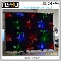 free shipping Beautiful LED video curtain FK3407