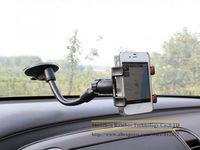 Universal suporte do telefone do carro Dual Clip Car Windscreen Goose Neck Suction car Holder for Samsung for HTC