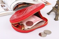 2014 New arrival, sweet heart coin purse personality cheap price good quality colors free shipping