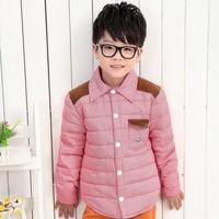 High Quality Fashion (0.55KGS) 2014 new brand Children shirt style down jacket Kids boy girl  shirt down coat  boy down shirt