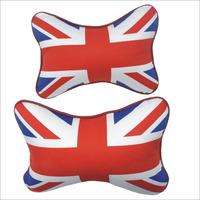 Hot british flag pattern car seat headrest neck cushion pillow 2PCS car headrest pillow for neck support pillow free shipping