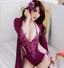 Grátis frete mulheres Sexy Lingerie 2 em 1 pijamas vestido + de uma peça de vestuário(China (Mainland))