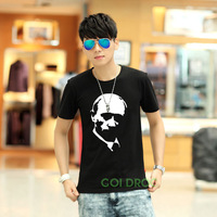 2014 New Hot Stylish Putin Portrait Avatar Men's T-shirts Casual T-shirt Man Tops  Short Sleeve O-Neck