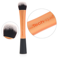 Real Techniques Super soft Taklon hair Golden makeup brushes face Foundation blusher Contour brush high quality Aluminum tube