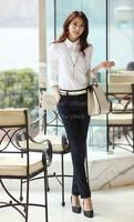 Latest style Blusas Femininas 2014 Ladies Blouses Button Down Shirt Long-sleeve Shirt Female Women's Slim Blouse SV18 CB029185