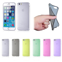 Min. order is $10 Best Quality Promotion New Colorful Soft TPU Clear Back Case Cover Shell Protector For Apple iPhone 6 EC312