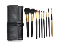 9 PCS black luxury high quality Professional Makeup Cosmetic Brush set Kit  H1081A